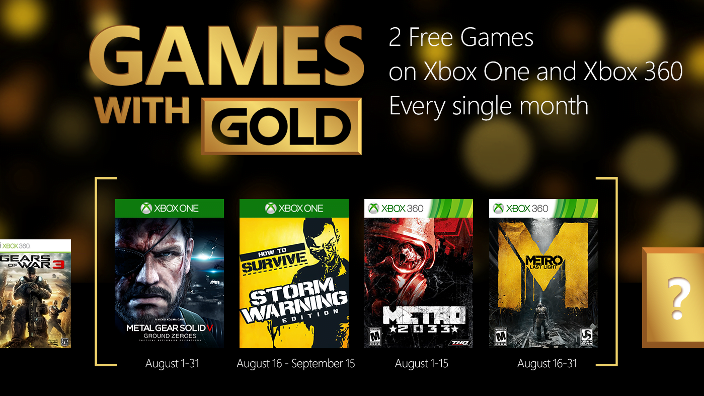 Photo of August 2015 Titles Announced for Xbox Live's Games with Gold
