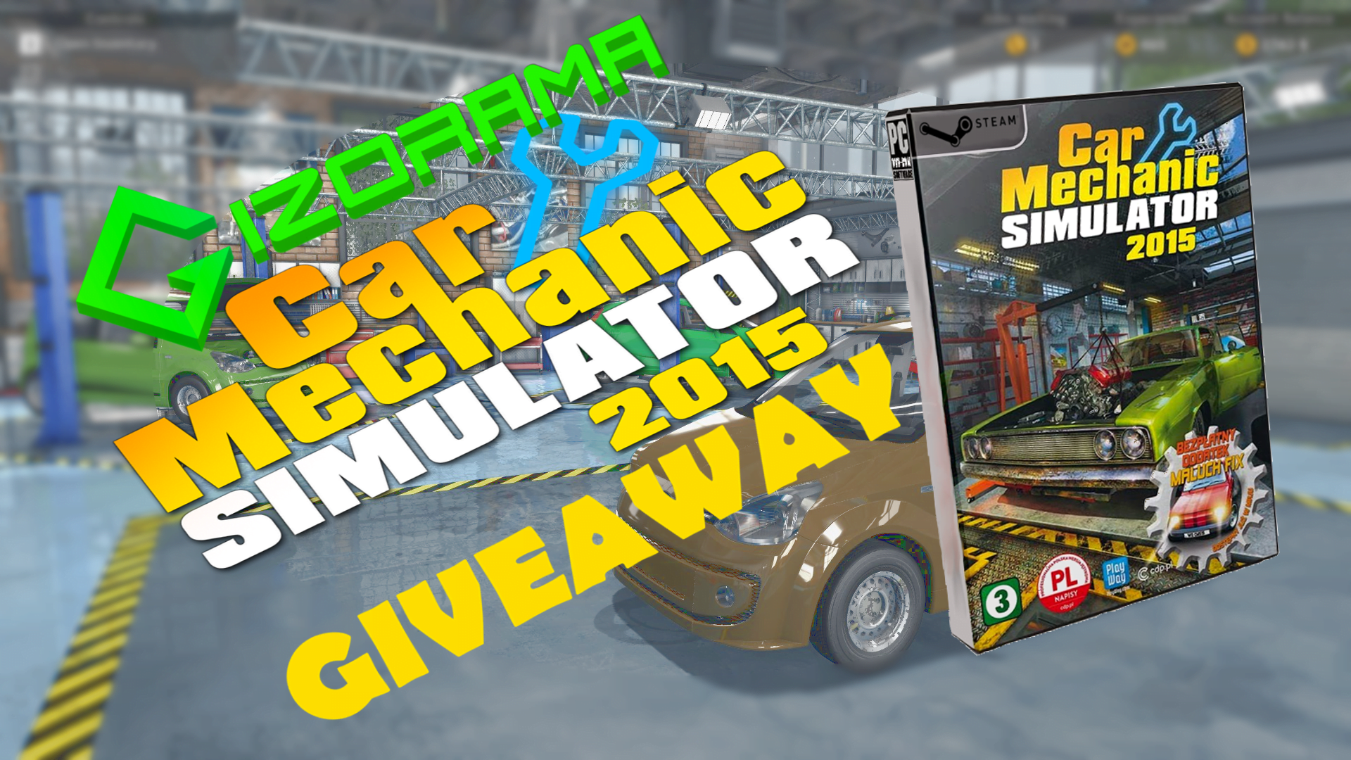 Photo of GIZORAMA Giveaway: Car Mechanic Simulator 2015