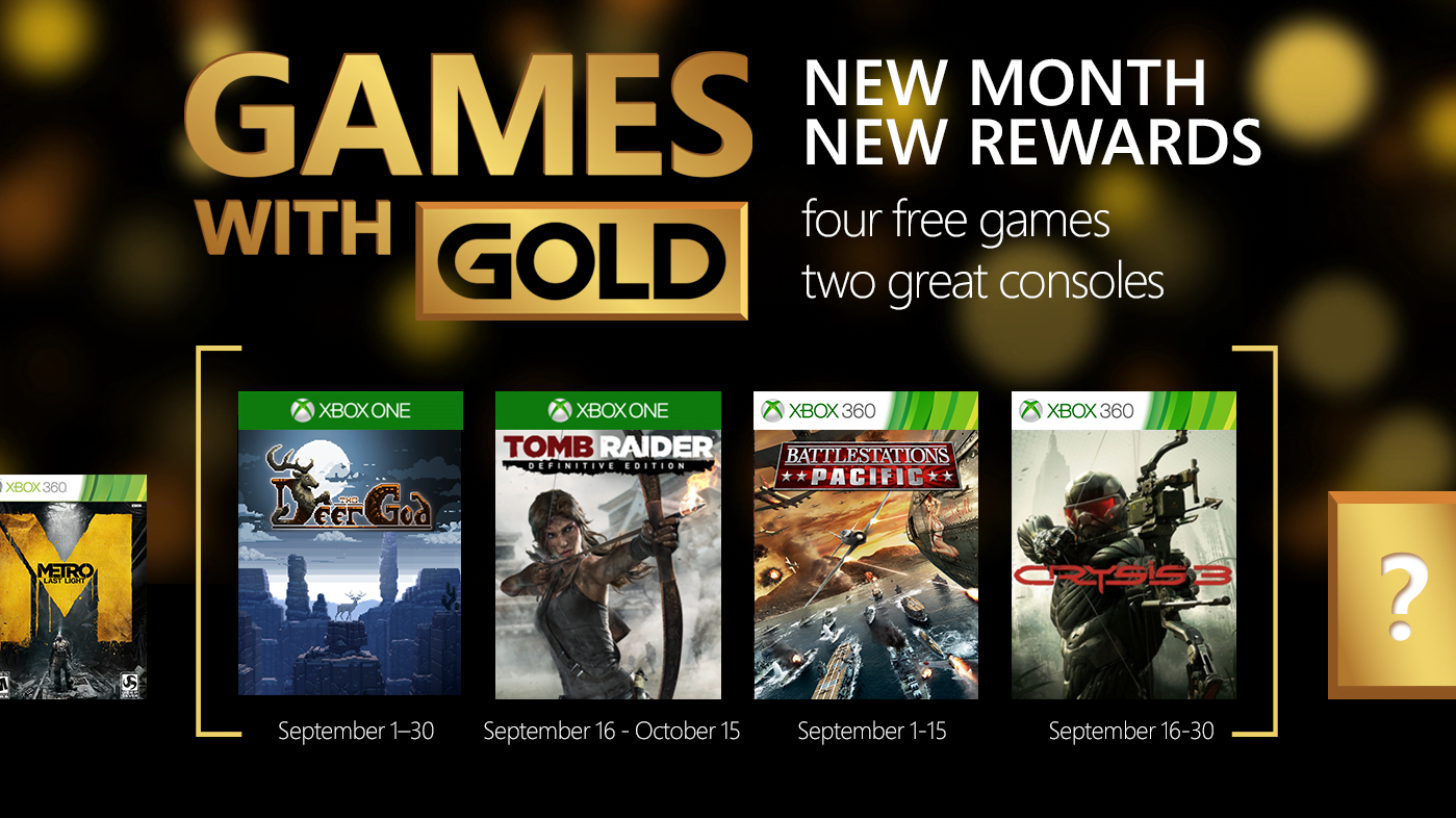 Photo of Xbox Live Games with Gold for September 2015 Announced