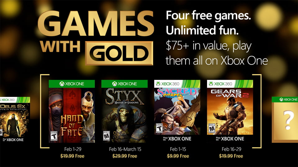 Photo of Here's What's Coming To Xbox Live Games With Gold in February